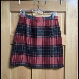 Telluride Clothing Co Wool Plaid Skirt